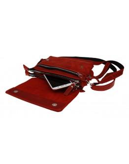 Кожаная женская сумка - клатч красного цвета 71032W-SKE