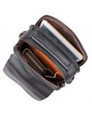Фотография Мужская кожаная сумка на плечо, черный цвет 71032a