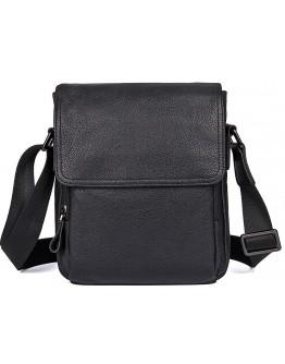 Черная мужская сумка на плечо, кожаная  71033a