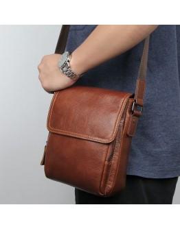 Коричневая сумка на плечо мужская 71033X