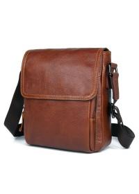 Коричневая сумка на пояс мужская 71033X