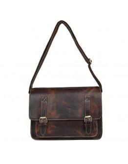 Коричневая сумка формата А4 на плечо 71037q