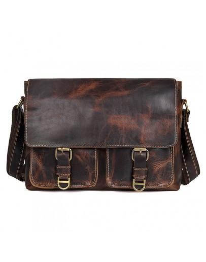 Фотография Коричневая мужская сумка для документов формата А4 71038Q