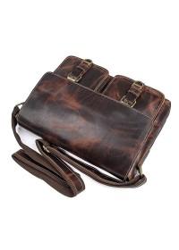 Коричневая мужская сумка для документов формата А4 71038Q
