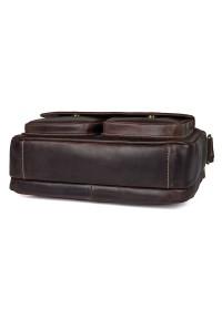 Мужская темно-коричневая сумка на плечо горизонтальная 71039Q