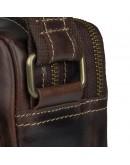Фотография Мужская темно-коричневая сумка на плечо горизонтальная 71039Q