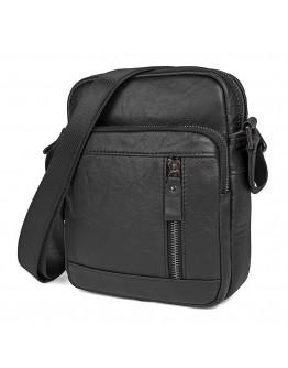 Черная мужская кожаная сумка на плечо 71040a