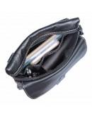 Фотография Черная сумка мужская на плечо и на пояс 71046A