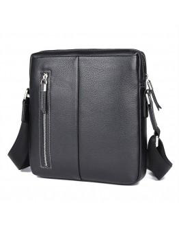 Черная мужская сумка на плечо кроссбоди 71047A-2