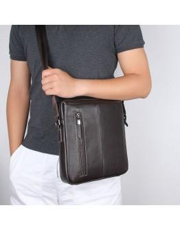 Коричневая мужская сумка на плечо кроссбоди 71047Q-A2