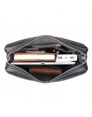 Фотография Черная мужская сумка на плечо - планшетка 71048A-2