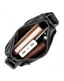 Фотография Мужская черная плечевая сумка кожаная 71051A