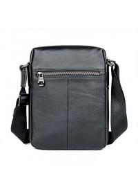 Мужская черная плечевая сумка кожаная 71051A