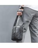 Фотография Мужская черная небольшая сумка через плечо 71052A
