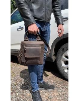 Удобная мужская коричневая сумка - барсетка 7105327-SKE