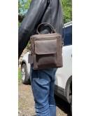 Фотография Удобная мужская коричневая сумка - барсетка 7105327-SKE