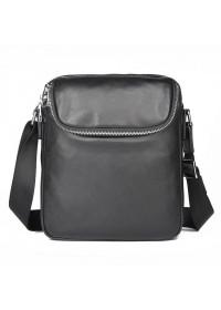 Черная кожаная мужская сумка через плечо 71053A