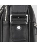 Фотография Черная кожаная мужская сумка через плечо 71053A