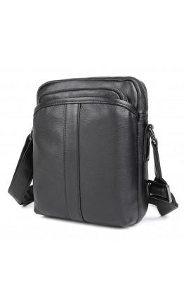 Мужская черная кожаная сумка через плечо 71054A