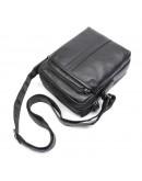 Фотография Мужская черная кожаная сумка через плечо 71054A