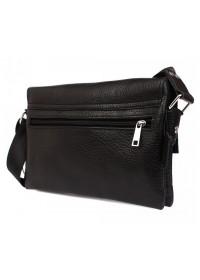 Повседневная качественная кожаная сумка 7105 черная