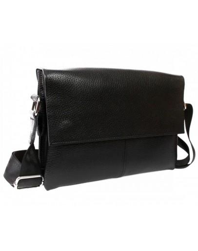 Фотография Повседневная качественная кожаная сумка 7105 черная