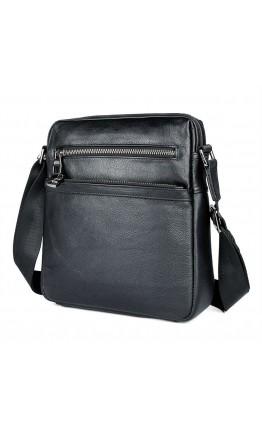 Черная кожаная сумка через плечо 71057A