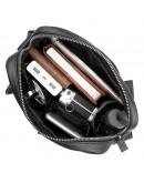 Фотография Черная сумка на плечо из натуральной кожи 71058A