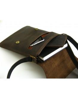 Мужская коричневая кожаная сумка-планшетка 71059-SGE