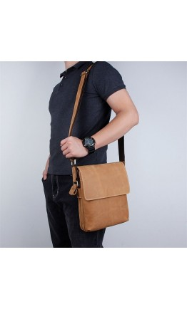 Винтажная вертикальная мужская сумка на плечо 71066B