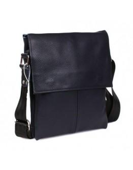 Стильная повседневная кожаная синяя сумка 7106