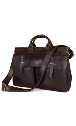 Удобная кожаная мужская сумка - портфель 77107R