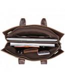 Фотография Удобная кожаная мужская сумка - портфель 77107R