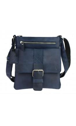 Синяя кожаная мужская сумка планшетка 710727-SKE