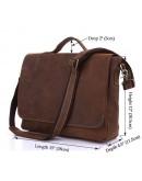 Фотография Винтажный оригинальный кожаный портфель 77108R