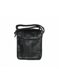 Вместительная кожаная черная сумка на плечо 77109A