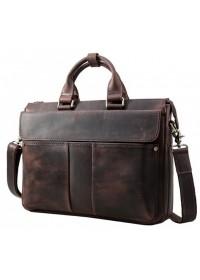 Коричневая кожаная мужская повседневная сумка 71096c