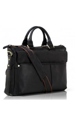 Черная кожаная мужская повседневная сумка 71096 a