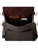 Фотография Шикарный мужской брутальный кожаный рюкзак 71097t