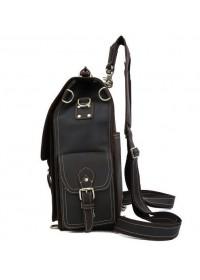 Шикарный мужской брутальный кожаный рюкзак 71097t