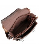 Фотография Кожаный мужской мессенджер коричневого цвета 77109C