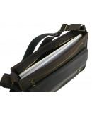 Фотография Кожаная коричневая горизонтальная сумка А4 с клапаном 7111-SGE