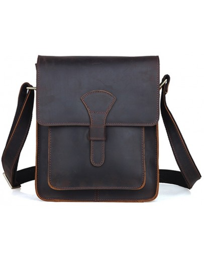 Фотография Добротная сумка на плечо из конской кожи 71112
