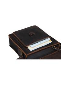 Добротная сумка на плечо из конской кожи 71112
