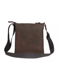 Коричневая кожаная небольшая сумка-планшетка 711120-SKE