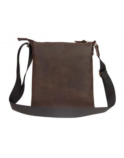 Фотография Коричневая кожаная небольшая сумка-планшетка 711120-SKE