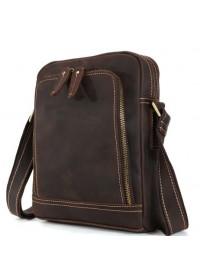 Кожаная коричневая сумка из конской кожи 71114