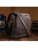 Фотография Кожаная коричневая сумка из конской кожи 71114