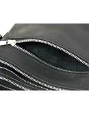 Фотография Кожаная черная сумка с клапаном 71115-SGE
