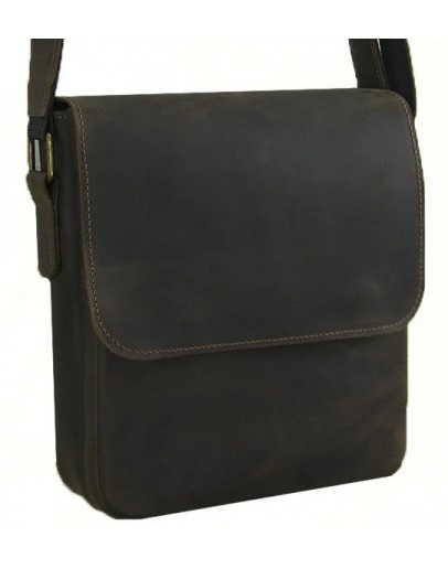 Фотография Коричневая плечевая сумка с клапаном 71116-SGE
